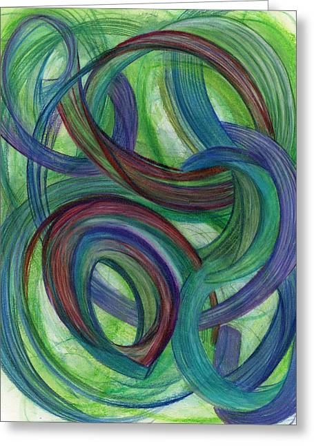 Trial Drawings Greeting Cards - One Stupendous Whole Greeting Card by Kelly K H B