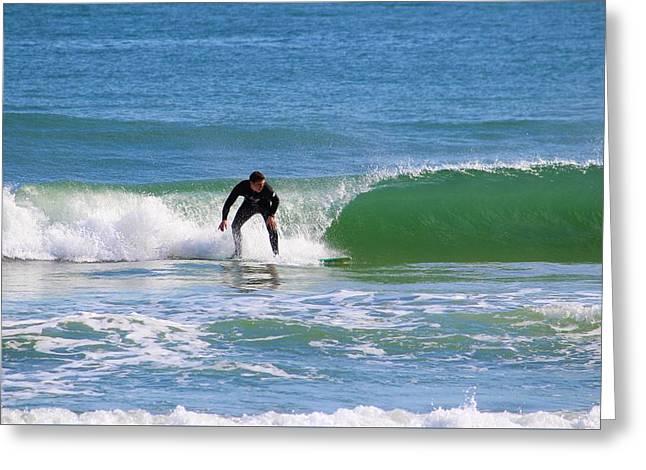 One Surfer Greeting Card by Cynthia Guinn