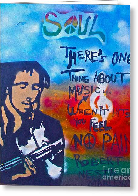 Free Speech Greeting Cards - One Thing About Music Greeting Card by Tony B Conscious