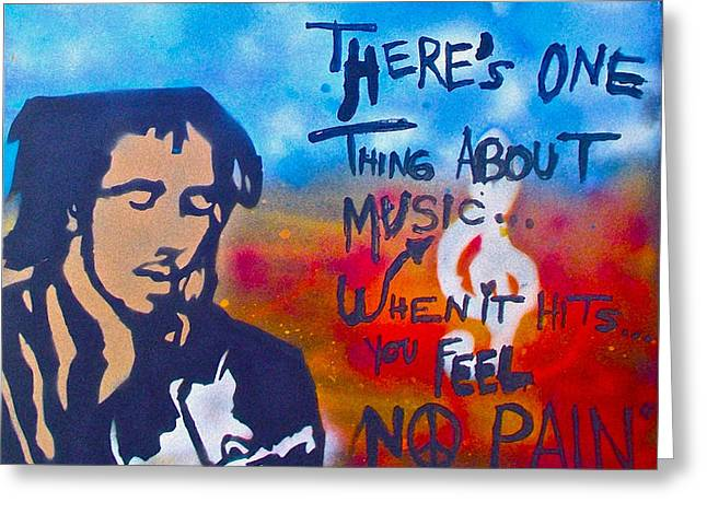 One Thing About Music Greeting Card by TONY B CONSCIOUS