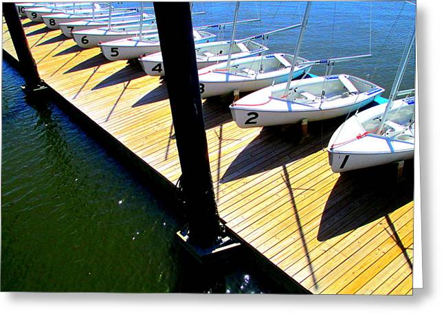 Sailboats Docked Greeting Cards - One To Ten Greeting Card by Randall Weidner