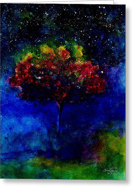 Formation Drawings Greeting Cards - One tree in the universe Greeting Card by Isabel Salvador