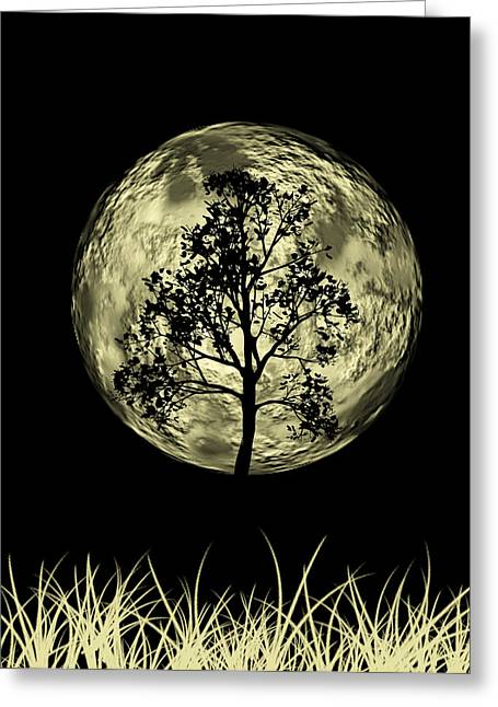 Mystic Sky Art Greeting Cards - One Tree  Greeting Card by Mark Ashkenazi