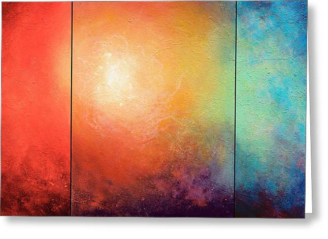 Abstract Art On Canvas Greeting Cards - One Verse Greeting Card by Jaison Cianelli
