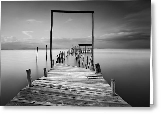 One Way Greeting Card by Jorge Maia