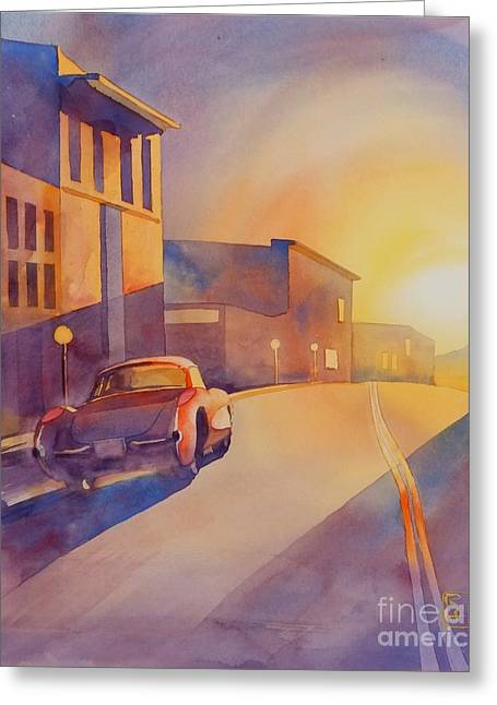 Automobilia Greeting Cards - One Way Greeting Card by Robert Hooper
