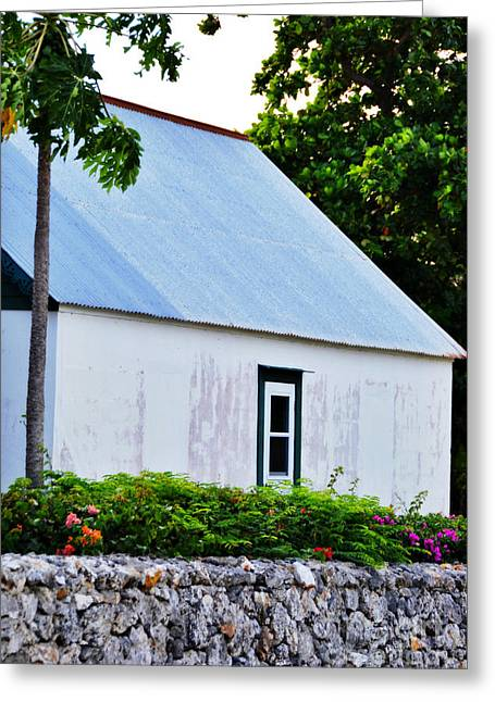 Dwell Greeting Cards - One Window Cottage Greeting Card by Darla Wood