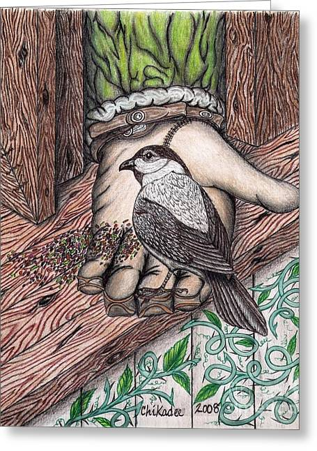 Dad Pastels Greeting Cards - One With Nature Greeting Card by Gene Pippert