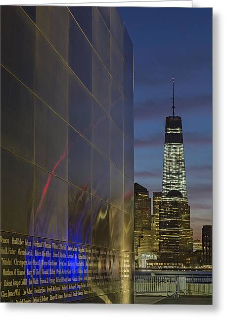 World Trade Center Greeting Cards - One World Trade Center At Dawn Greeting Card by Susan Candelario