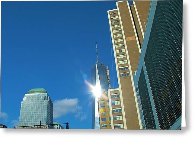Ground Zero Greeting Cards - One World Trade Center Greeting Card by Dan Sproul