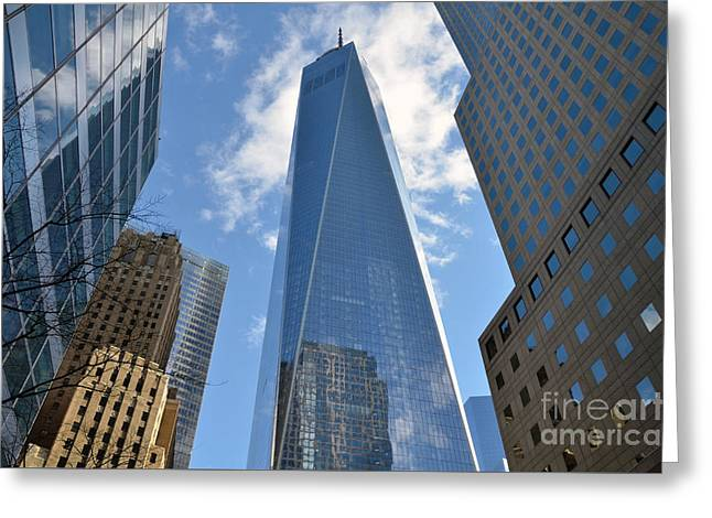 Terrorist Greeting Cards - One World Trade Center Greeting Card by RicardMN Photography