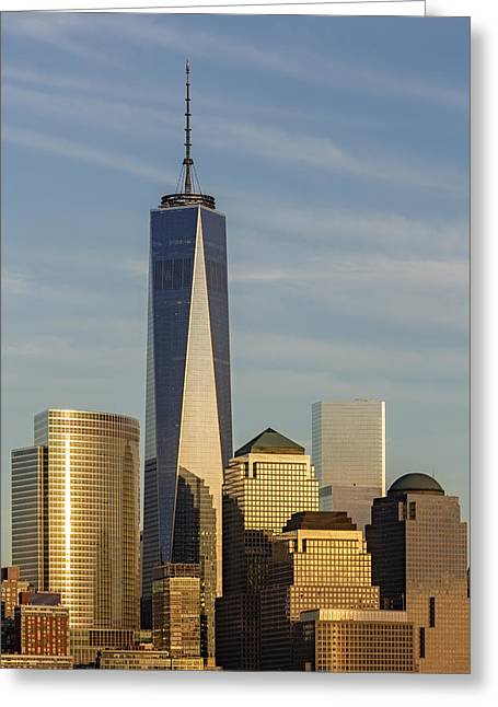 Freedom Greeting Cards - One World Trade Center Greeting Card by Susan Candelario