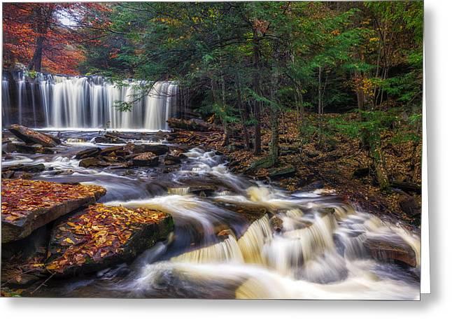 Oneida Falls Greeting Card by Mark Papke