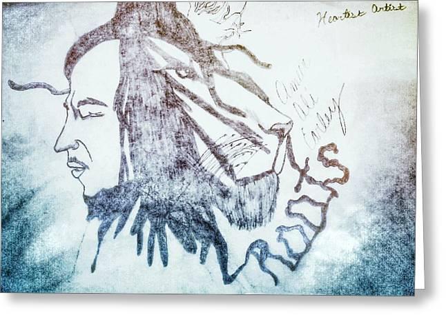 Bob Marley Artwork Greeting Cards - Oneness Greeting Card by Ameer Earley