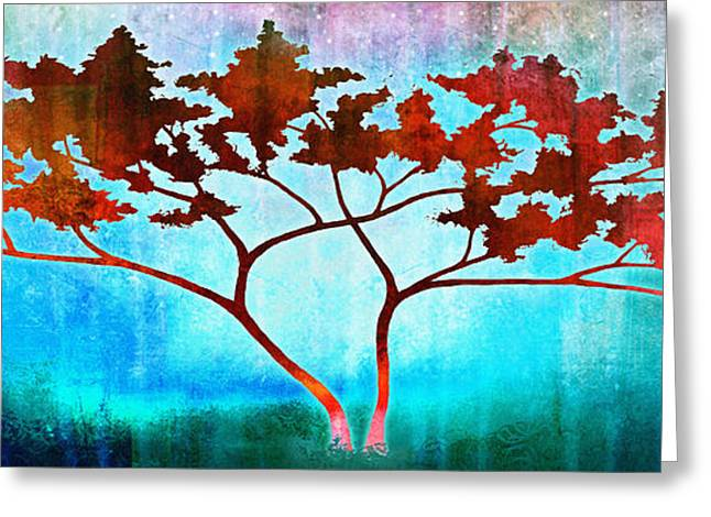 Tree Art Print Mixed Media Greeting Cards - Oneness Greeting Card by Jaison Cianelli