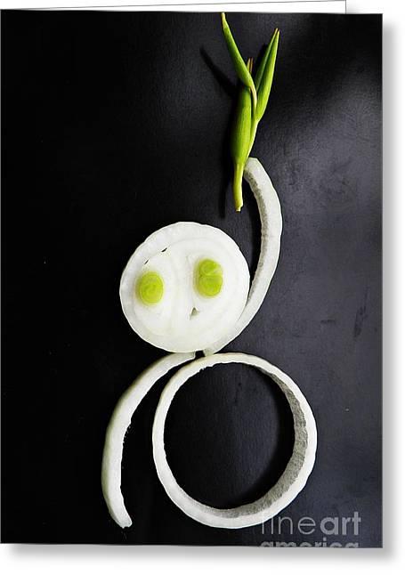Onion Baby Greeting Card by Sarah Loft