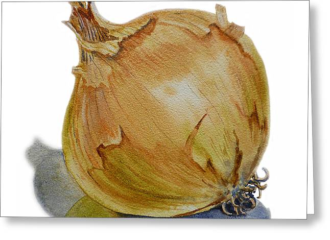 Label Greeting Cards - Onion Greeting Card by Irina Sztukowski