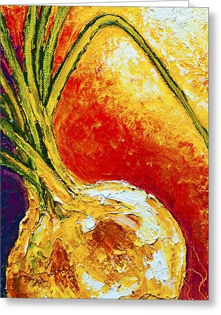 Onion Greeting Card by Paris Wyatt Llanso