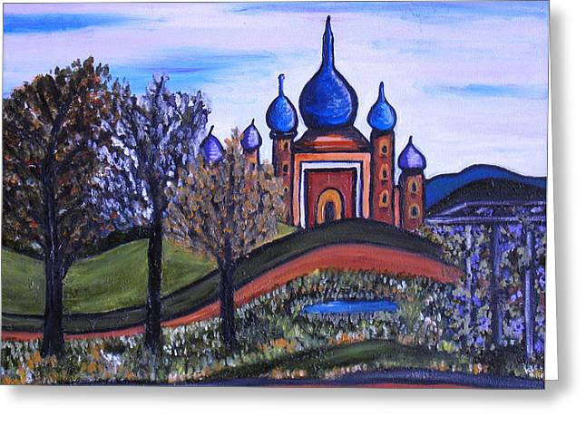 Onion Domes Paintings Greeting Cards - Onion Scape Greeting Card by Kerry  Bennett