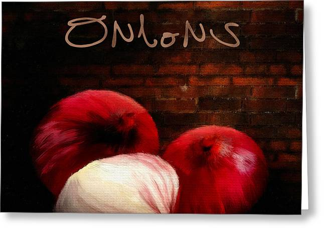 Onion Greeting Cards - Onions II Greeting Card by Lourry Legarde
