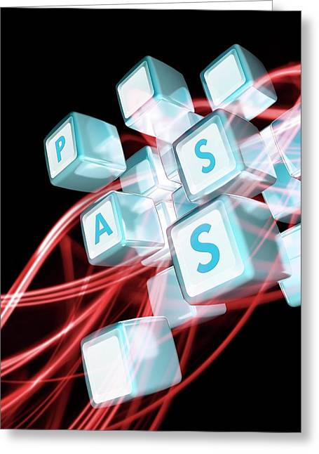 Online Data Security Greeting Card by Victor Habbick Visions