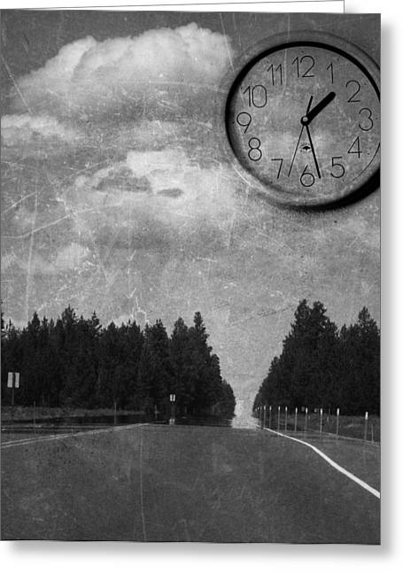 Clock Greeting Cards - Only a Matter of Time Greeting Card by Rebecca Cozart