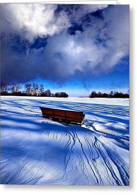 Park Benches Greeting Cards - Only A Moment Greeting Card by Phil Koch