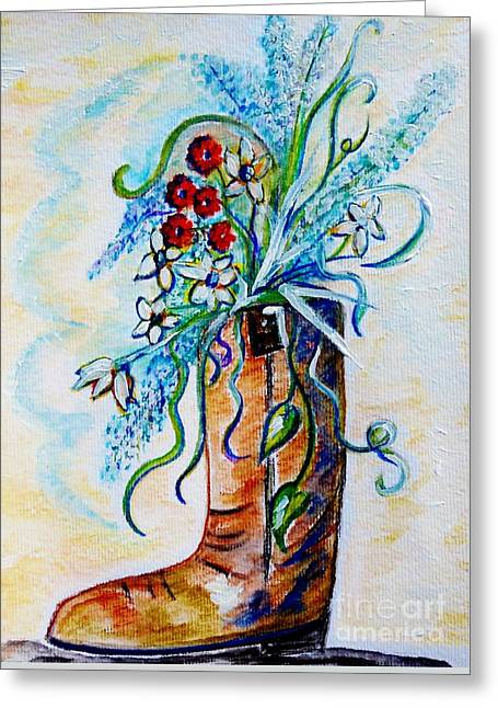 Wildfowers Greeting Cards - Only a Woman Greeting Card by Eloise Schneider