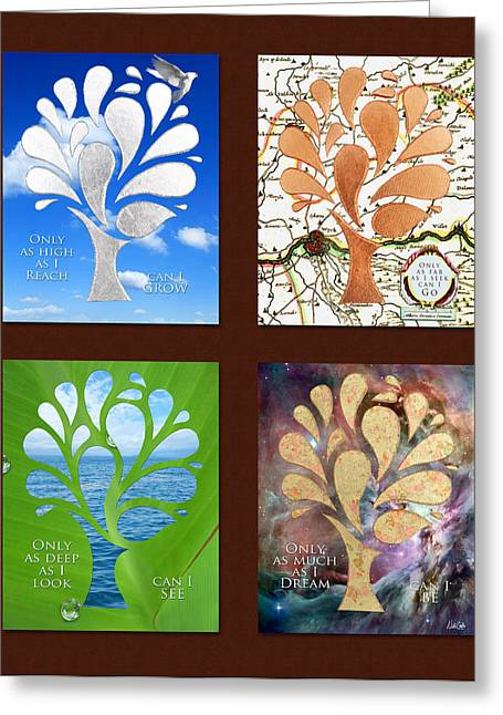 Potential Greeting Cards - Only as Much as I Dream Series 2x2 Greeting Card by Nikki Marie Smith