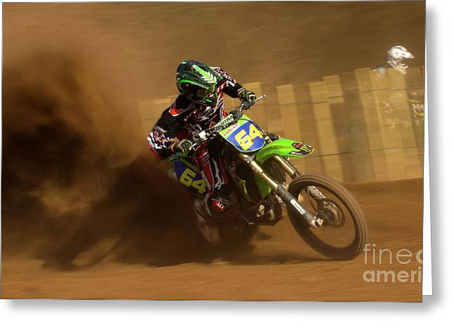 Enduro Greeting Cards - only Dust Greeting Card by Angel  Tarantella