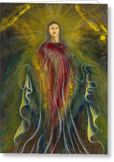 Religious ist Mixed Media Greeting Cards - Only ONE Illuminates My Soul III Greeting Card by Giorgio Tuscani