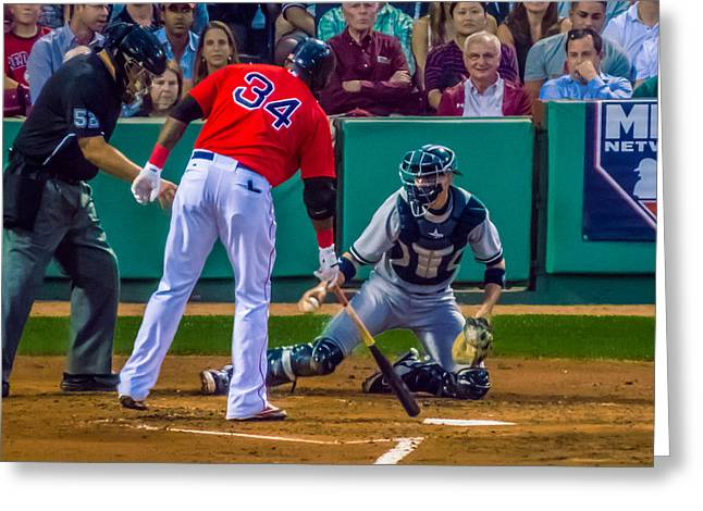 Boston Red Sox Greeting Cards - Only One Opinion Matters Greeting Card by Tom Gort