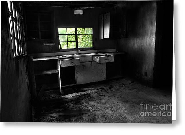 Abandoned Houses Greeting Cards - Only The Silence Remains Greeting Card by Michael Eingle