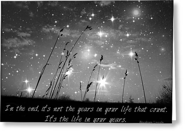Dream Scape Greeting Cards - Only The Stars and Me...In The End... Greeting Card by Marianna Mills