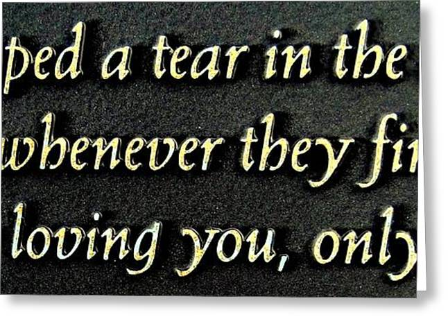 Tears Greeting Cards - Only Then Greeting Card by Ed Weidman