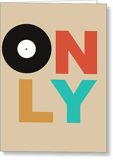 Vinyl Greeting Cards - Only Vinyl Poster 1 Greeting Card by Naxart Studio