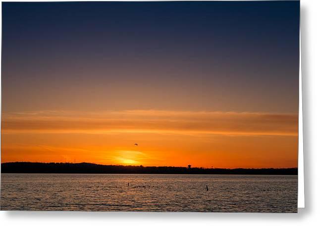Syracuse Orange Greeting Cards - Onondaga Lake Sunset Greeting Card by MaryGail Perkins