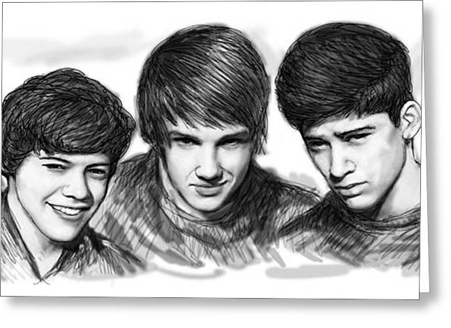 Payne Greeting Cards - Onr Direction art long drawing sketch poster Greeting Card by Kim Wang