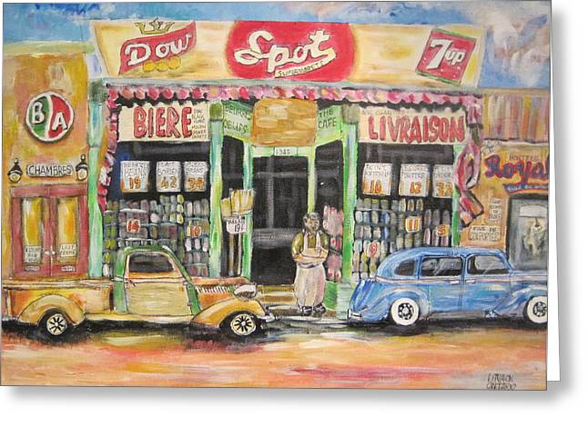 Litvack Greeting Cards - Ontario Street East 1938 Greeting Card by Michael Litvack