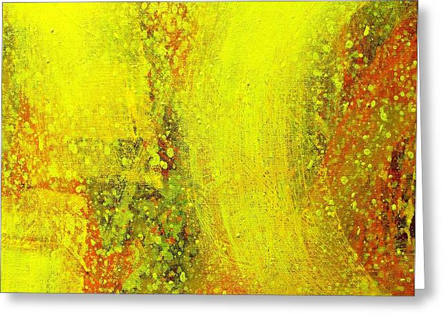 Abstract  Framed Prints Greeting Cards - Onwards Greeting Card by John  Nolan