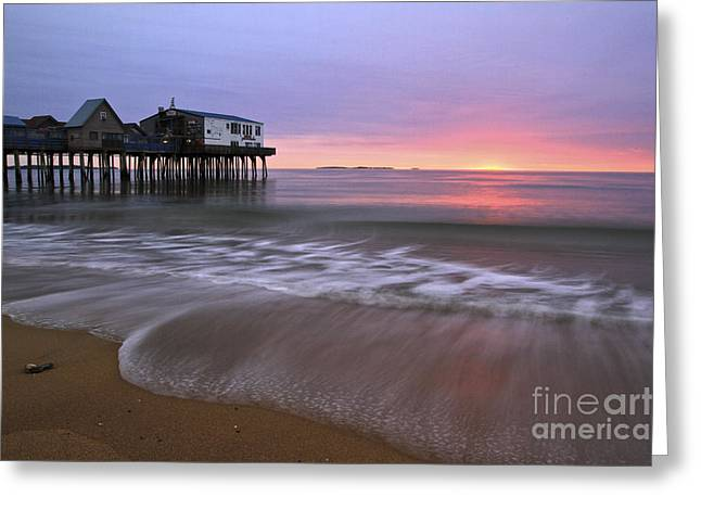 Vacationland Greeting Cards - OOB Sunrise Greeting Card by Brenda Giasson