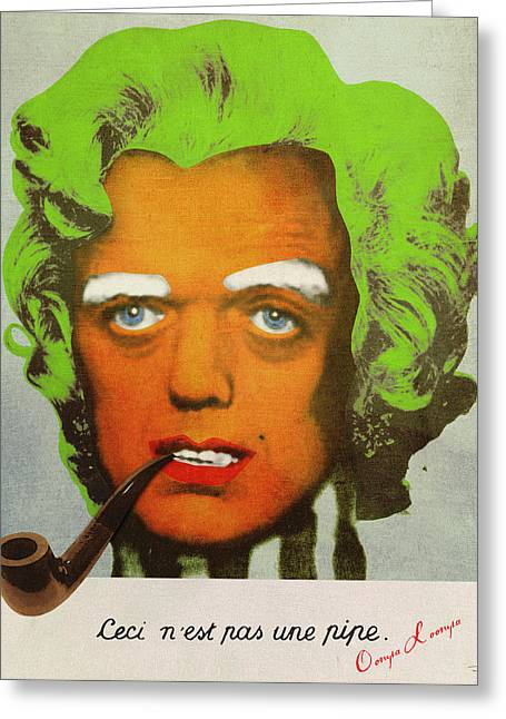 Signature Digital Art Greeting Cards - Oompa Loompa Self Portrait With Surreal Pipe Greeting Card by Filippo B