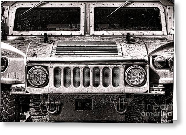 Oomphy Humvee Greeting Card by Olivier Le Queinec