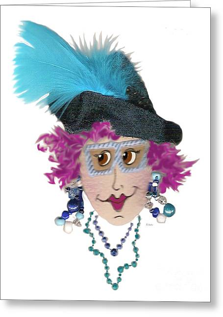 Oops On The Hair Color Choice Greeting Card by Nan Wright