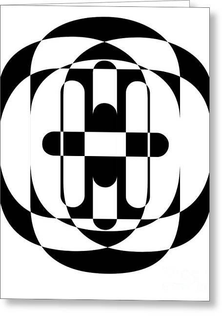 Op Art Greeting Cards - Op Art 5 Greeting Card by Edward Fielding