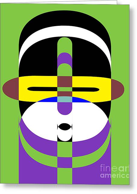 Op Art Greeting Cards - Pop Art People 2 Greeting Card by Edward Fielding