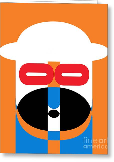 Op Art Greeting Cards - Pop Art People 1 Greeting Card by Edward Fielding