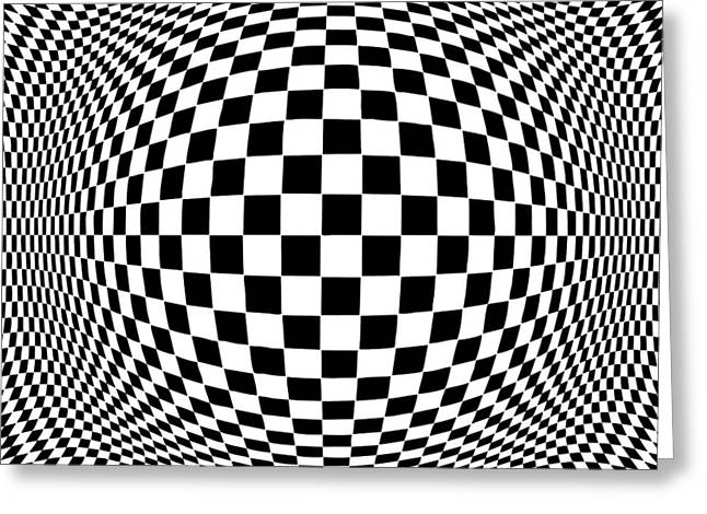 Hypnotherapy Greeting Cards - Op Art Greeting Card by J M Designs