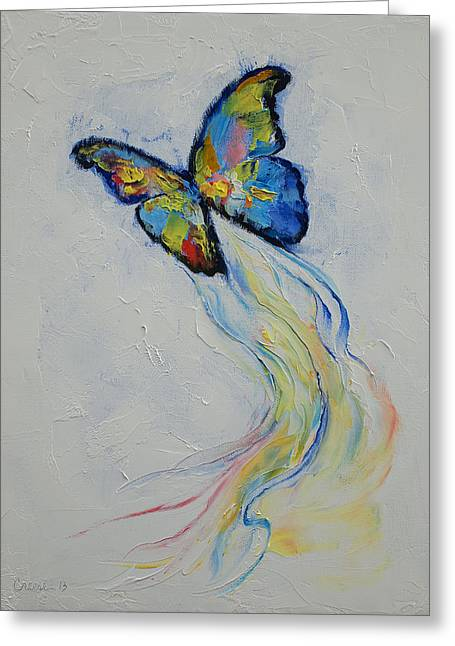 Opal Butterfly Greeting Card by Michael Creese