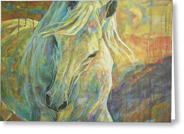 Horse Artist Greeting Cards - Opal Dream Greeting Card by Silvana Gabudean